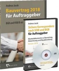 Bauvertrag 2018 für Auftraggeber + CD Sichere Korrespondenz nach VOB und BGB für Auftraggeber