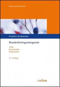 Bundeskleingartengesetz. Kommentar