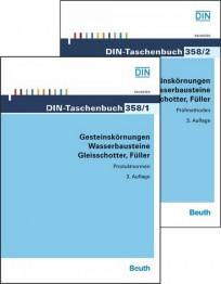 DIN-Taschenbuch 358/1 + 2. Gesteinskörnungen, Wasserbausteine, Gleisschotter, Füller