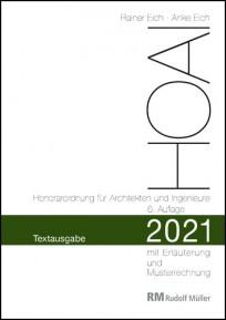 HOAI 2021 - Honorarordnung für Architekten und Ingenieure - Textausgabe