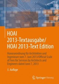 HOAI 2013 Textausgabe / HOAI 2013 Text Edition
