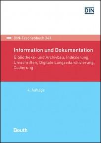 DIN-Taschenbuch 343. Information und Dokumentation