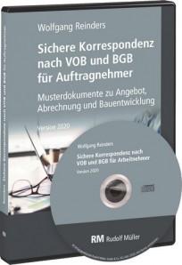 Sichere Korrespondenz nach VOB und BGB für Auftragnehmer. CD-ROM