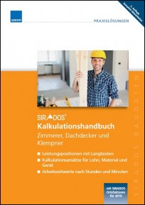 sirAdos Kalkulationshandbuch 2019 - Zimmerer, Dachdecker, Klempner