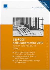 sirAdos Kalkulationsatlas 2019 für Roh- und Ausbau im Altbau