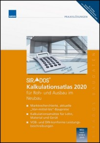 sirAdos Kalkulationsatlas 2020 für Roh- und Ausbau im Neubau