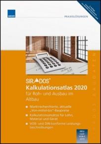 sirAdos Kalkulationsatlas 2021 für Roh- und Ausbau im Altbau