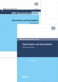 DIN-Taschenbuch 134/1 und 134/2. Sporthallen und Sportplätze. Buchpaket