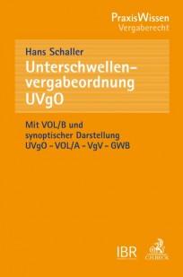 Unterschwellenvergabeordnung (UVgO)