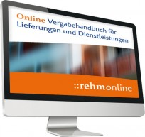 Vergabehandbuch für Lieferungen und Dienstleistungen Online