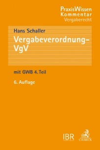 Vergabeverordnung - VgV Kommentar