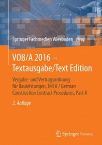 VOB/A 2016 - Textausgabe / Text Edition
