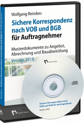 sichere korrespondenz nach vob und bgb f r auftragnehmer cd rom reinders b cher din. Black Bedroom Furniture Sets. Home Design Ideas