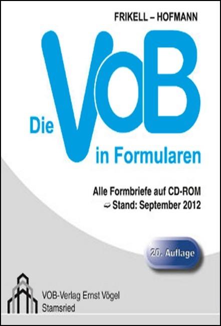 Die Vob In Formularen Frikell Hofmann Bücher Din Normen Zu