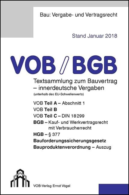 Vobbgb Für Innerdeutsche Vergaben Ausgabe 2018 Frikell Hofmann
