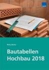 Bautabellen Hochbau 2018