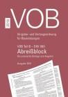 Abreißblock VOB Teil B - DIN 1961