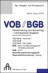 VOB/BGB für innerdeutsche Vergaben, Ausgabe 2018